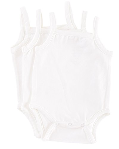 Camisole 24 Month Bodysuit Onsie in Natural Bamboo Fiber -3 Pack