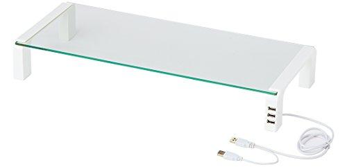 キングジム デスクボードUSBハブ付き ガラス天板 THDBU-20W