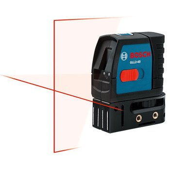 Bosch GLL2-40 Self-Level Cross Line Laser, Up To 30 Feet