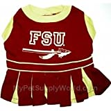Mirage Pet Products Puppy Dog Cat Costume Florida State Seminoles Sports Team Logo Cheer Leading Uniform XS
