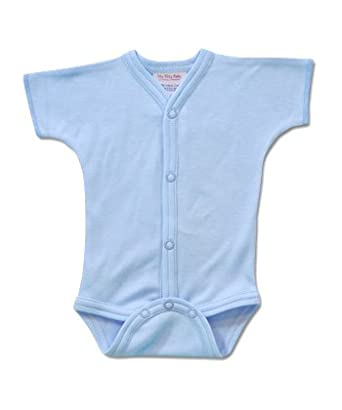 Com itty bitty baby snap front blue diaper shirt preemie infant