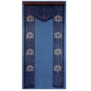 Bead Curtain Wooden Beaded Door Curtain Arch 1 Hand Painted Fits Standard Door Way