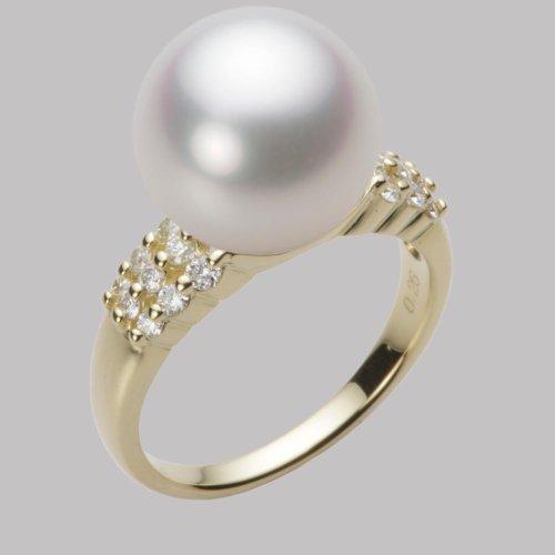 12mm白蝶真珠リング(ホワイト)
