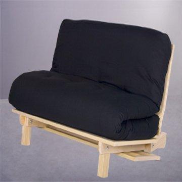 Tri fold hardwood futon frame twin size living room for Tri fold futon frame instructions