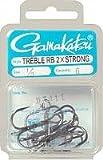GAMAKATSU (57411) Treble TREBLE 2X STRONG BLK SZ1/0 6PK