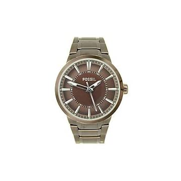 Fossil Men's Dress Brown Steel Bracelet watch #FS4472