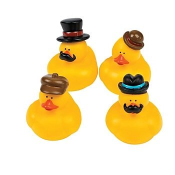 Dapper Rubber Ducks - 12 pc pack