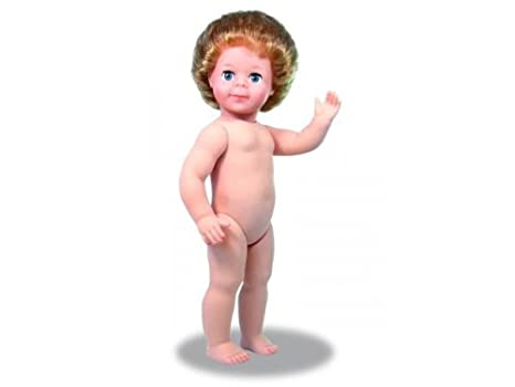 Petitcollin – Petitcollin964015 Blond jambes droites Jean-Michel Naked Baby Doll avec cheveux
