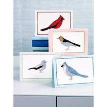 Martha Stewart Glittered Bird Card Kit