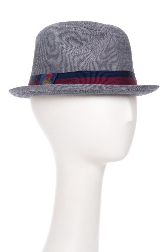 Goorin Bros. Men's Mick Bloom A-Crown Chambray Fedora Hat