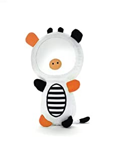 Skip Hop Funky Farmyard Squeak and Rattle Funny Face Cow Mirror