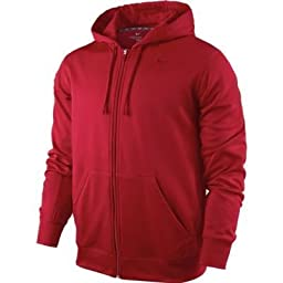 Nike Men\'s KO Full Zip Training Hoodie Gym Red Size Medium
