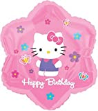 Hello Kitty Happy Birthday Foil Balloon (Uninflated)