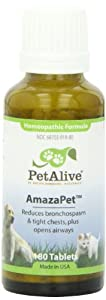 PetAlive AmazaPet for healthy clear breathing in Pets, 180 Tablets