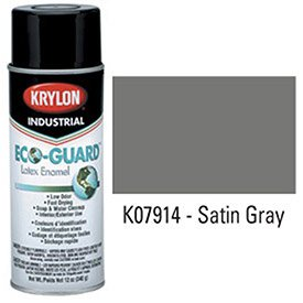 krylon-industrial-eco-guard-latex-spray-paint-satin-gray-lot-of-12