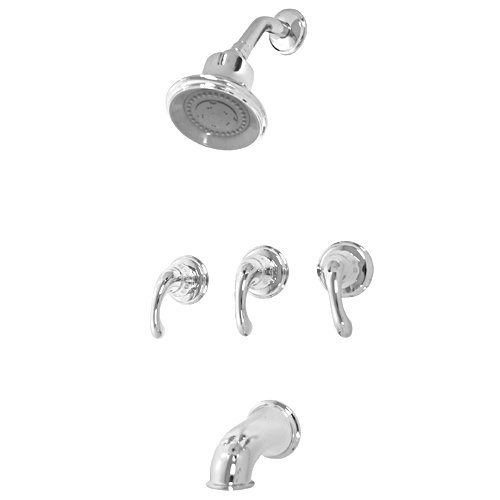 Cheap Price Pfister 801 DC Treviso Tub And Shower Faucet 3 Handle Polished