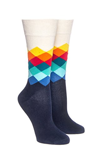 Faded Diamond Crew Socks