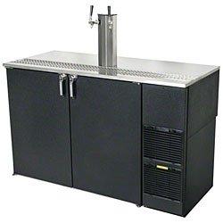 "60"" Stainless Steel Top Two Keg Direct Draw Beer Dispenser - Glastender KC60-R1-BS(LR)"