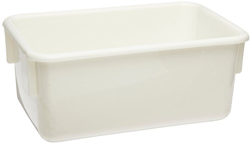 Bird in Hand Storage Tray - 12 1/4 x 7 7/8 x 5 1/4 inches - White