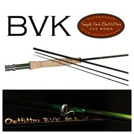 Temple Fork Outfitters BVK Series Fly Rod 9 Foot 5 Weight 4 Piece