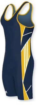Adidas AS104C-03 Custom Sublimated Wrestling Singlet (Call 1-800-234-2775 to order)