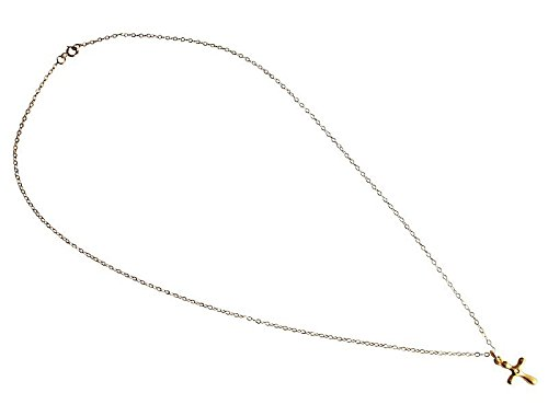 Goldener Kreuz Anhänger Damen Halskette Diamant silber vergoldet Kreuz