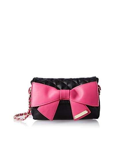 Betsey Johnson Women's Bow Knot Cross-Body, Black