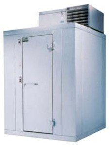 """Kolpak P6-054-Ct R Top Mount Walk In Cooler Unit W/ Dial Thermometer & Hinged Right 78X58.5X47"""", Each front-575764"""