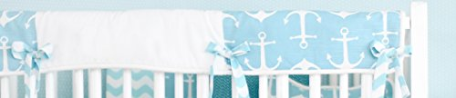 New Arrivals Anchors Away Crib Rail Cover, Aqua