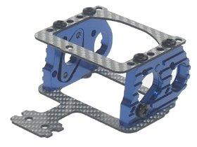 3Racing #3R/Kz-01/Bu/Sg Al Motor Mount W/ Ssg Graphite Plate For Mini-Z Mr-02 Mm & Mr-015 For Kyosho Mini-Z Mr-02