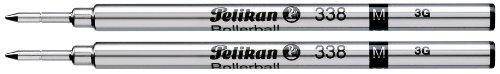Pelikan 338 Recharge pour stylo roller Pointe fine Noir Lot de 2