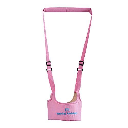 Dehang Cotton Handheld Baby Walker Toddler Walking Helper - Pink