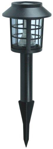 Ranex 9.500.001 LED Ranex Outdoor Garden Solar Light Pin, Black