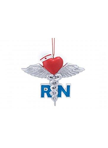 Registered Nurse RN Symbol Resin Hanging Christmas Ornament (Nurse Party Decorations)