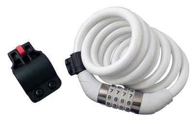Sunlite Defender Resettable Cable Lock - 12mm x 6ft, White