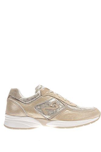P615100D-415.Sneaker in pelle.Platino.36