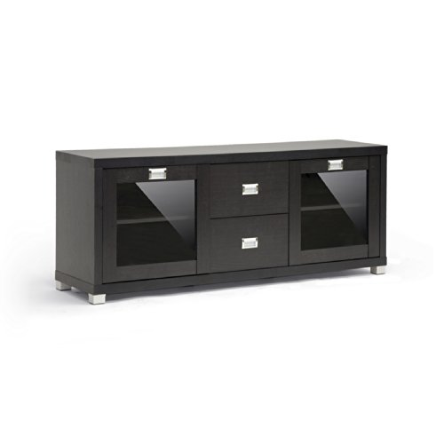 Baxton Studio Ftv-884 Foley Modern Tv Stand With Drawers And Shelves, Dark Brown