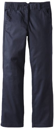 Dockers Big Girls' Twill Straight Leg Pant, Navy, 8