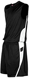 Rawlings Ladies Lean-FIT Basketball Shorts B - BLACK WS by Rawlings