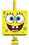 "Amscan SpongeBob 5-5/8"" x 3-5/8"" Classic Party Blowouts, 8-Count"