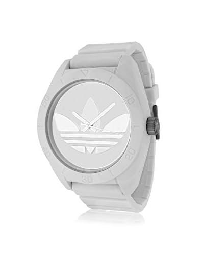 Adidas Men's ADH2711 Santiago White Watch with White Silicone Band