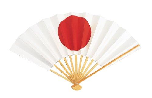(日本製)国旗扇子 日本(送料無料)