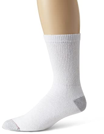 Hanes Men's 10 Pack Crew Sock, White, 10-13 (Shoe size 6-12)