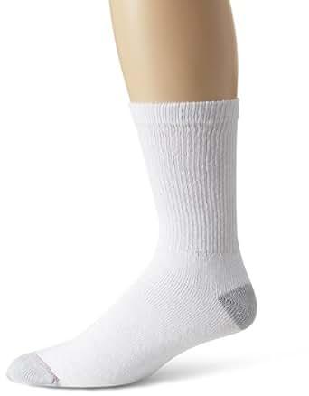 hanes s crew sock white 10 13 shoe size 6 12 pack