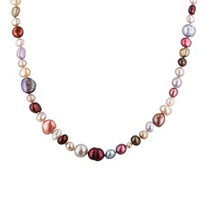 5-11mm Cool-Tones Freshwater Cultured Pearl Endless Necklace, 62