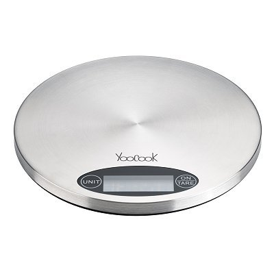 Yoocook YC73205 Balance de Cuisine Électronique Rond Inox
