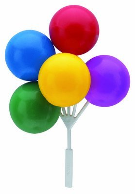 Balloon Bouquet Cluster Cake Topper Decorative Picks - 3 pcs