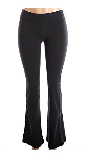 Mopas Cotton Spandex Yoga Pants for Fitness Gym Athletics & Lounge Black Medium