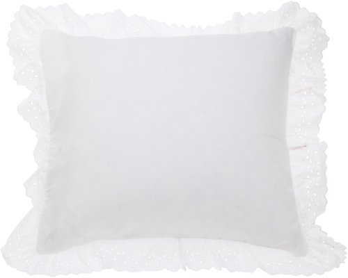 Purchase Fresh Ideas Eyelet Ruffled Pillow Sham Euro, White