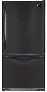 LG LBC22520SB 22.4 cu. Ft. Bottom Mount Freezer Refrigerator - Black